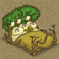 Neopia Central Money Tree Bed in Neohomes 2.0.
