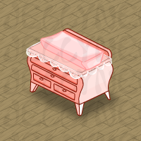 Pink Lace Changing Table in Neohomes 2.0.
