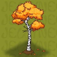Autumn Birch Tree in Neohomes 2.0.